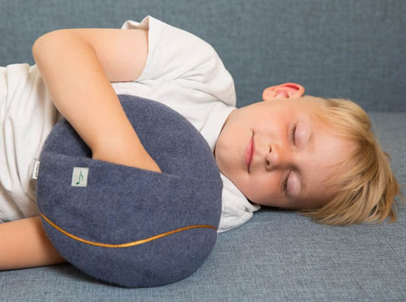 Relax with interactive music cushion